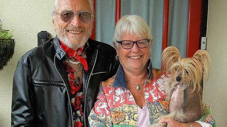 Graham and Sylvia with her dog, Bean