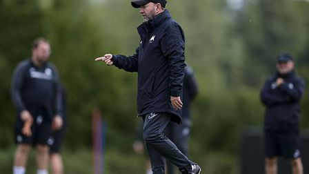 Gary Johnson, manager of Torquay United, during Torquay United's return to training at Seale Hayne n