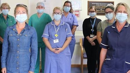 Staff at Torbay Hospital day surgery unit