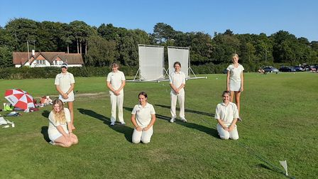 The Sidbury Under-15 girls who won the silver medal at the Devon Super 8s held at Bovey Tracey. Pict
