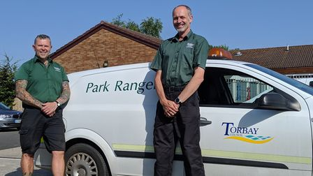 Torbay Council park rangers Mark Johnson, left, and Greg Lowe. Both rangers say how proud they are o