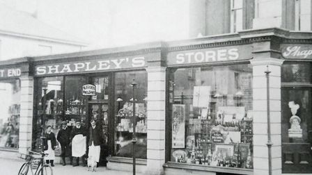 The West End branch of Shapley's in Lucius Street in circa 1910 from the lost collection of David Ma
