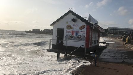 The seafront takes a battering