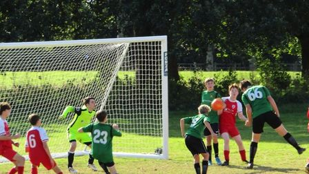 Action from the Sidmouth Warriors U15s 4-1 win over Exmouth United. Picture: CHRIS ELSOM