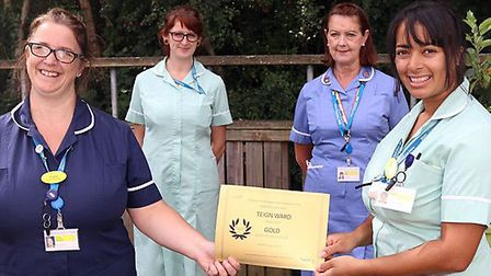 Staff from Torbay, Newton Abbot and Totnes hospitals were presented with certificates recognising th