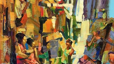 Otter Vale Art Society art exhibition features Shanty Town by Hashim Akib Picture: Hashim Akib