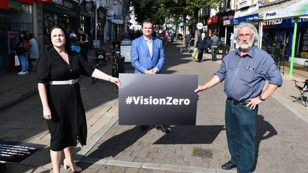 The road deaths campaign is launched in Torbay with Crime Commissioner Alison Hernandez, Torbay MP K