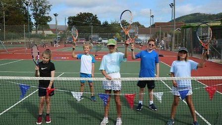 Sidford Tennis Club Touch Tennis Tournament juniors. Picture STC