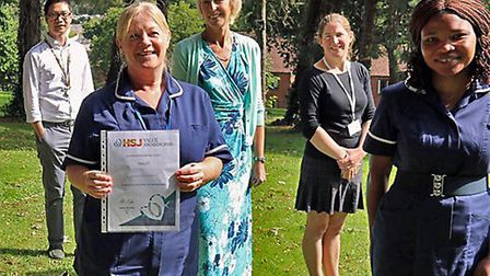 Torbay Hospital's rheumatology department is finalists for the renowned Health Service Journal (HSJ)