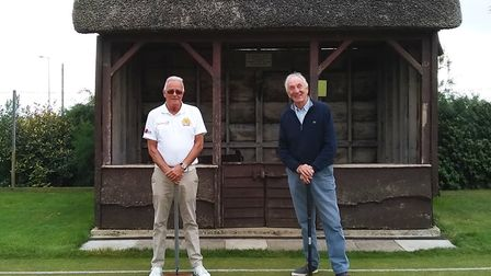 The two players who contested the final of the Sidmouth Croquet Club High Handicap final, winner Dun