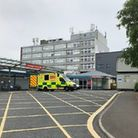Entrance to the emergency department at Torbay Hospital