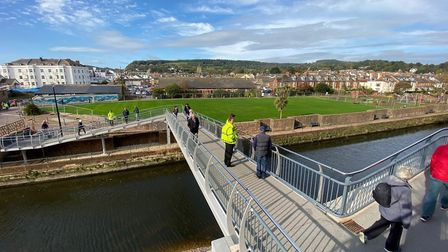 The new Alma Bridge opened Picture: Marc Astley