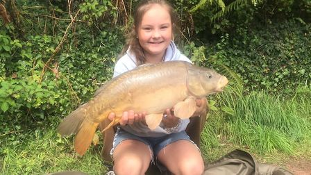 Summer Skelly with a 16lb mirror carp