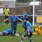 Action from the Honiton Town 1-0 defeat at Torpoint Athletic. Picture: ANDREW SYMONDS
