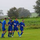Feniton players celebrate a goal in their Joma Devon & Exeter League win over Whipton & Pinhoe. Pict