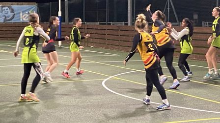 Action from Sidmouth Netball Club who are now playing friendlies through until the start of a new Ho