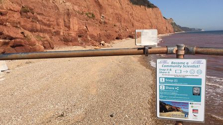 New coastal monitoring point for Sidmouth Picture: Plymouth Coastal Observatory