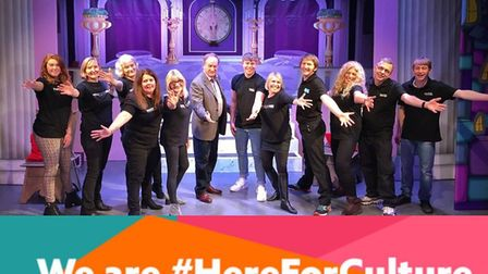 The Palace Theatre team celebrate news of the funding