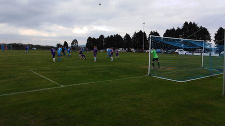 Action from the Beer Albion win over Whipton & Pinhoe. Picture RICHARD HONNOR