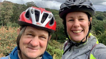 Mike Roberts and Helen Cox riding out for the African wildlife rangers