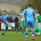 Action from the Beer Albion versus Seaton Joma Devon & Eeter League game that the Fishermen won 3-1.