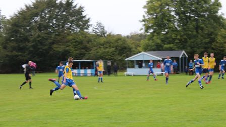Jake Blackmore in action for Ottery U15s in the meeting with Brixington Blues. Picture STEPHEN UPSHE