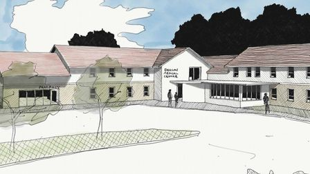 Artist's drawing of The Beacon Medical Centre extension plans Picture: Osmond Tricks