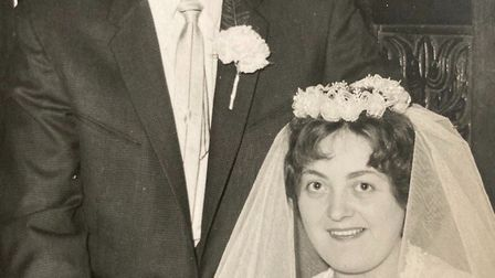 Roy and Maureen Priest on their wedding day