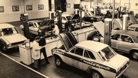The Millbay Road workshop – one of the first in the UK to give individual technicians ramps