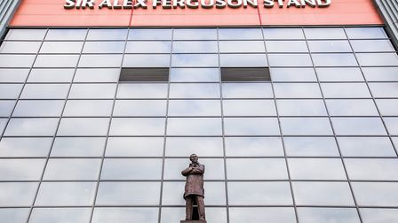Statue of Sir Alex Ferguson at the Sir Alex Ferguson Stand - Sir Alex is the greatest manager of Man