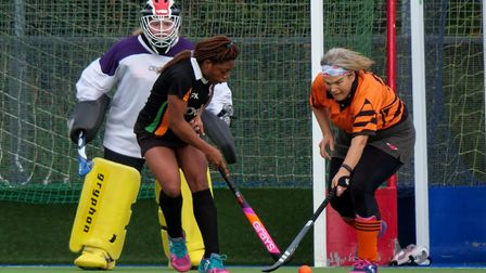 Action from the Honiton Hornets meeting with SOHC ladies III XI, a game that Hornets lost 5-1. Pictu