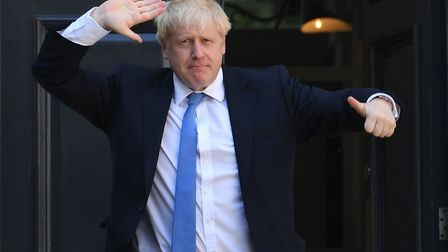 Prime minister Boris Johnson arriving at Conservative party HQ in Westminste. Photograph: Stefan Rou
