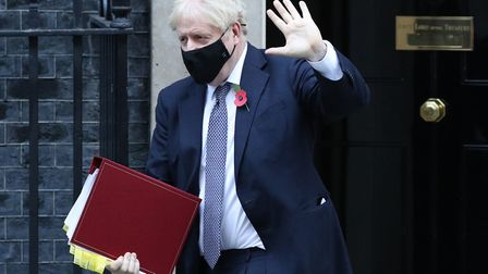 Prime Minister Boris Johnson leaves 10 Downing Street to go to the Houses of Parliament, London. Pic