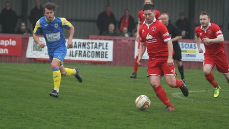 Former Ilfracombe Town and Barnstaple Town midfielder Lee Francis scored and assisted against his fo