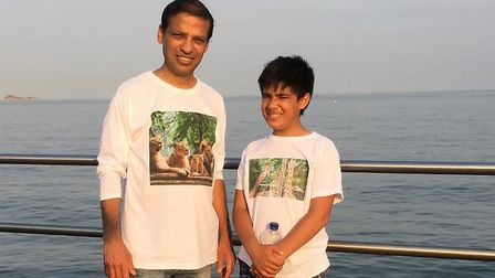 Surajit and Devanshu Sinha who organised a tidy up operation