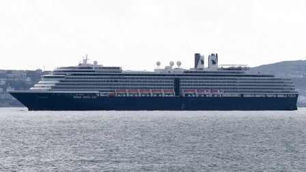 The Nieuw Statendam is one of four Holland America Line ships in Torbay that will sound their horns