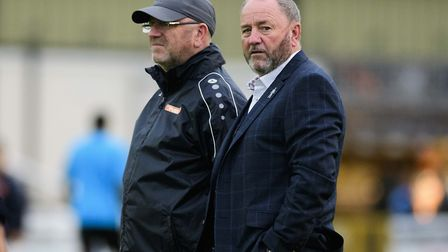 Gary Johnson with his brother Pete, head of recruitment at Torquay United. Photo: James Fearn/PPAUK.