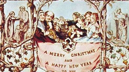 The first Christmas card, designed by John Callcott Horsley for his friend Sir Henry Cole, 1843. Cou