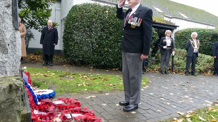 Remembrance Sunday 2020 in Bideford. Picture: Graham Hobbs