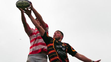 Bideford v St Austell in Western Counties West in March. Picture: Kevin Crowl