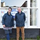 Chilcott Auctioneers' Liz and Duncan Chilcott outside their new premises on Honiton High Street. Pic
