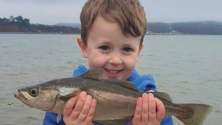 Baxter Nichols with a pollack