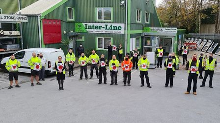 Inter-Line staff doing their bit for the Poppy Appeal