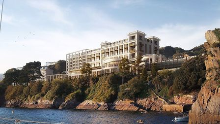 How the sea-facing facade of the Imperial Hotel could look