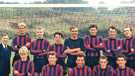 Collaton United in 1966/67. Back row, from left: Mr Stone (supporter), Brian Carter, Jock McCargow,