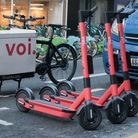 Voi e-scooters.