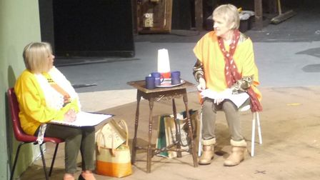 A scene from Doubling at The Little Theatre, Torquay