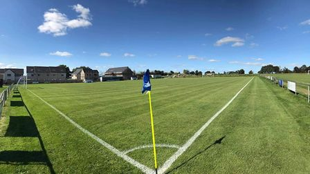 Feniton Football Club's Acland Park home looking in superb condition for the 20/21 season. Picture;