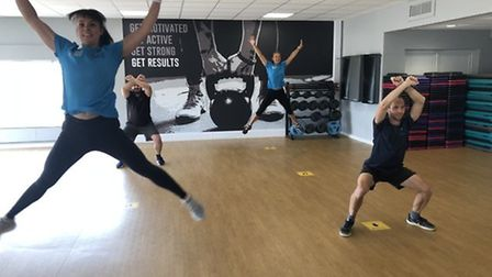 Socially-distanced exercise class at LED Exmouth. Picture: LED Leisure