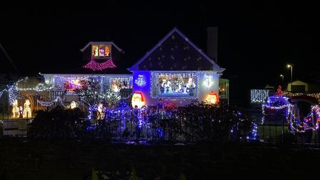 Each year there is an incredible festive display of lighst at this house in Yelland. Will you be joi